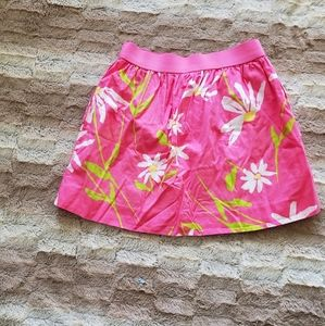 LILLY PULITZER PINK FLORAL SKIRT..SIZE S